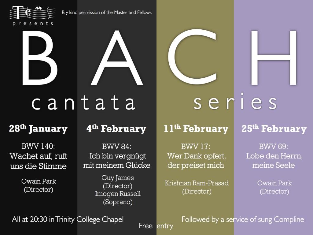 TCMS Bach Cantata Series 2015